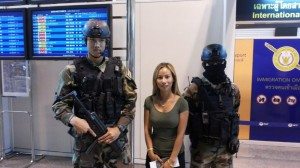 Soldier at airport.